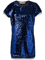 Amen Sequined Dress Blue