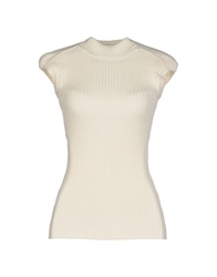 Plein Sud Jeanius Turtlenecks Ivory