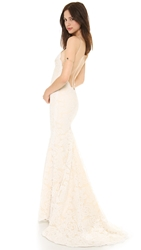 Katie May Poipu Low Back Gown Champagne