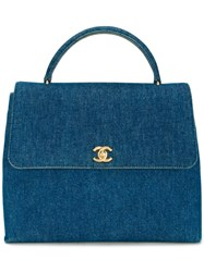 Chanel Vintage Denim Tote Blue