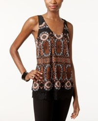 Inc International Concepts Printed Layered Look Tank Top Only At Macy's Blissful Medallion