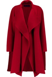 Donna Karan New York Draped Cashmere Coat Claret