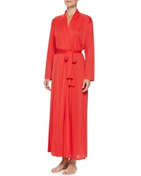 Josie Aphrodite Long Knit Robe Sunkissed Coral
