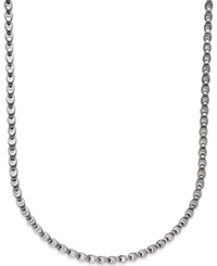 Macy's Men's Diamond Accent Link Necklace In Stainless Steel