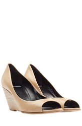 Pierre Hardy Open Toe Leather Wedges