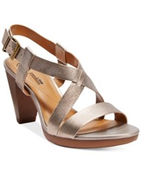 Clarks Collection Women's Jaelyn Fog Dress Sandals Women's Shoes Gold