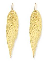 18K Gold Dipped Textured Wave Earrings Devon Leigh