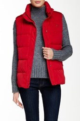 Tommy Hilfiger Quilted Vest Red