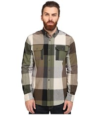 Staple Apache Check Long Sleeve Woven Olive Men's Clothing