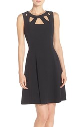 Women's Eliza J Cutout Crepe Fit And Flare Dress
