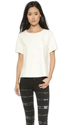 Veda Blanco Leather Top White