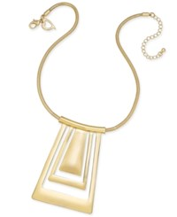 Thalia Sodi Gold Tone Geometric Collar Pendant Necklace Only At Macy's