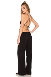 Indah Giza Triangle Patchwork Jumpsuit Black