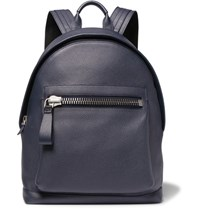 Tom Ford Buckley Grained Leather Backpack Navy