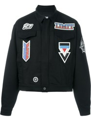 Ktz Patched Denim Jacket Black