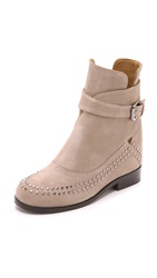 Thakoon Fiona 2 Suede Studded Booties Grey