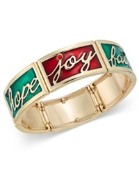 Charter Club Gold Tone Holiday Inspiration Bracelet Only At Macy's