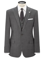 Chester By Chester Barrie Prince Of Wales Check Suit Jacket Grey