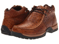 Roper Performance 2 Eyelet Ankle Boot Brown Ostrich Cowboy Boots