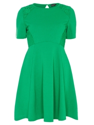 Dorothy Perkins Lace Waffle Dress Green