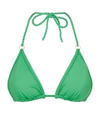 Lazul Belinda Triangle Bikini Top Female Green