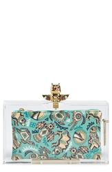 Charlotte Olympia 'Pandora' Clutch With Zip Pouches Clear