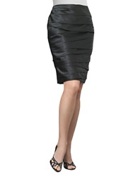 Js Collections Asymmetrical Pleated Pencil Skirt Black