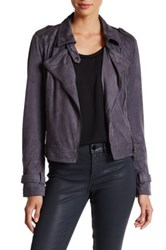 Bnci By Blanc Noir Faux Suede Moto Jacket Gray