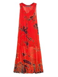 Raquel Allegra Tie Dye Silk Maxi Dress