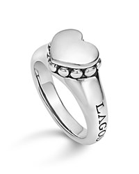 Lagos Sterling Silver Beloved Smooth Heart Ring