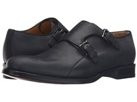 A. Testoni Goodyear Constructed Bolognese Double Monk Strap Nero Men's Shoes Black