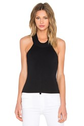 J.O.A. Knit Halter Top Black