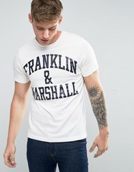 Franklin And Marshall Logo T Shirt Old White