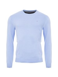 Eden Park Round Neck Cotton Sweater Blue