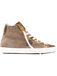 Philippe Model Hi Top Sneakers Nude And Neutrals