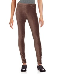 Michael Michael Kors Petite Corduroy Leggings Chocolate