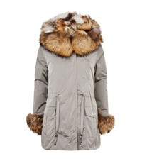Max And Moi Link Fur Lined Hooded Parka Female Beige