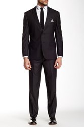 Nicole Miller Gray Checkered Two Button Notch Lapel Suit