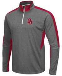 Colosseum Men's Oklahoma Sooners Atlas Quarter Zip Pullover Charcoal Crimson