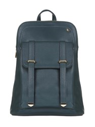 Yumi Faux Leather Casual Backpack Green