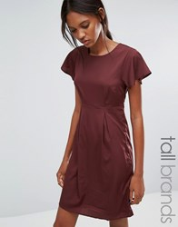 Vero Moda Tall Emma Dress With Ruffle Sleeves Decadent Chocolate Brown