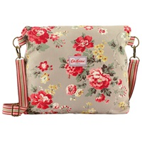 Cath Kidston Reversible Winter Rose Messenger Bag Oat Berry