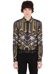 John Richmond David Bowie Silk Cotton Voile Shirt