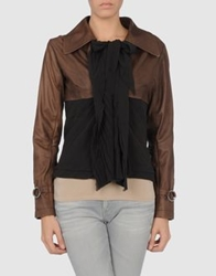 Angelos Frentzos Leather Outerwear Cocoa