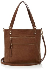 Oasis Katie Zip Satchel Natural