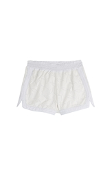Jonathan Simkhai Cotton Blend Shorts With Lace Overlay