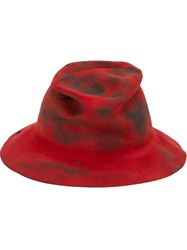 Horisaki Design And Handel Distressed Hat Red