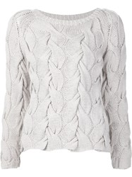 Ulla Johnson Cable Knit Jumper Nude And Neutrals