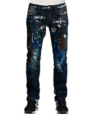 Cult Of Individuality Rebel Straight Deco Wash Jeans Blue