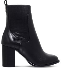 Kurt Geiger Nettle Leather Ankle Boots Black